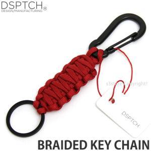 ディスパッチ ブレイデッド キー チェーン 【DSPTCH Braided Key Chain】 アクセサリ 小物 鍵 アメリカ カラー:Red/Matte Black|s3store