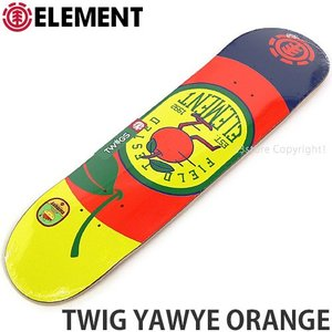 エレメント ELEMENT TWIG YAWYE ORANGE 国内正規品 スケートボード スケボー デッキ 板 ストリート プロ 初心者 サイズ:7.3x29.6|s3store