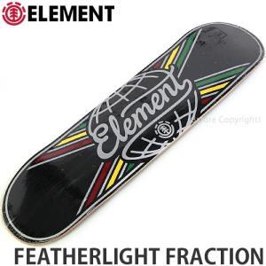 エレメント ELEMENT FEATHERLIGHT FRACTION 国内正規品 スケートボード スケボー デッキ 板 ストリート プロ 初心者 サイズ:7.75x31.7|s3store