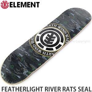 エレメント ELEMENT FEATHERLIGHT RIVER RATS SEAL 国内正規品 スケートボード スケボー デッキ 板 ストリート サイズ:8.125x32.2|s3store