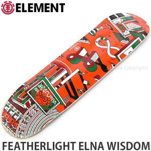 エレメント ELEMENT FEATHERLIGHT ELNA WISDOM 国内正規品 スケート スケボー デッキ 板 ストリート カラー:MasonS サイズ:8x32.0625|s3store