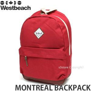 16 ウエストビーチ モントリオール バックパック 【Westbeach MONTREAL BACKPACK】 国内正規品 スノーボード スノボ バッグ デイパック 通学 Col:RED Size:15L|s3store
