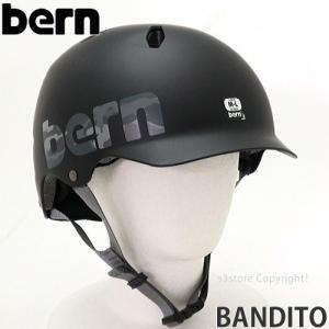 バーン BERN BANDITO 国内正規品 ヘルメット プロテクター ジュニア 自転車 BMX スケートボード スノーボード 子供 Col:M. Black Camo Logo