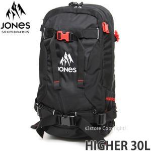 17 ジョーンズ ハイヤー 30L 【JONES HIGHER 30L】 16-17 スノーボード バックパック バッグ バックカントリー SNOWBOARD BACKPACK BAG カラー:BLACK/RED|s3store