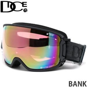 ダイス バンク DICE BANK スノーボード スノボ スキー ゴーグル 日本製 偏光レンズ カラー:MBK レンズカラー:Pastel Pink Mirror/Pola Pink s3store