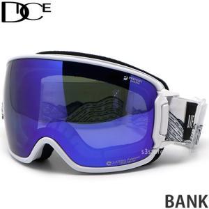 20model ダイス バンク DICE BANK スノーボード ゴーグル スノボ レンズ ミラー SNOW 日本製 フレーム:WH レンズ:MIT Blue/Pola Gray s3store