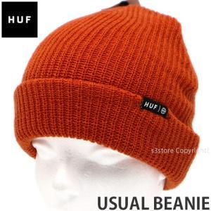 ハフ ユージュアル ビーニー HUF USUAL BEANIE ニット 帽子 スケートボード スケボー ファッション SKATEBOARD カラー:RUST サイズ:O/S|s3store