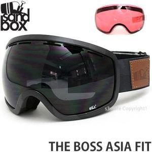18 サンドボックス ボス アジアンフィット ゴーグル SANDBOX THE BOSS A.F 国内正規品 スノボ Frame:BLACK CAMO Lens:BLACKOUT|s3store
