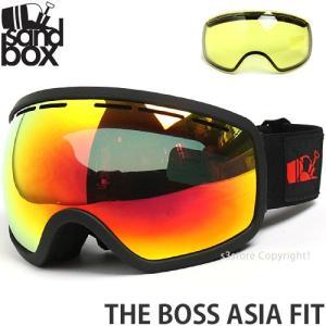 17 サンドボックス ザ ボス アジアンフィット 【SANDBOX THE BOSS ASIA FIT】 国内正規品 スノーボード ゴーグル GOGGLE Frame:M.BLACK Lens:BROWN RED CHROME s3store