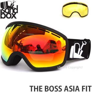 サンドボックス ザ ボス アジアンフィット SANDBOX THE BOSS ASIA FIT スノーボード ゴーグル 国内正規品 MATTE BLACK レンズカラー:BROWN RED CHROME|s3store
