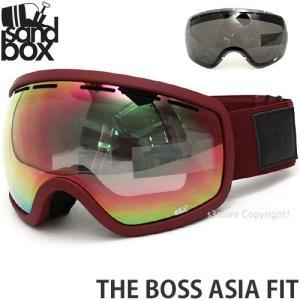 18 サンドボックス ボス アジアンフィット ゴーグル SANDBOX THE BOSS A.F 国内正規品 スノーボード Frame:BURGUNDY Lens:PINK ION|s3store