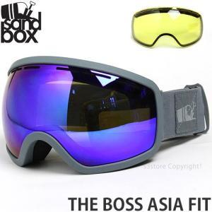 17 サンドボックス ザ ボス アジアンフィット 【SANDBOX THE BOSS ASIA FIT】 国内正規品 スノーボード ゴーグル GOGGLE Frame:M.GREY Lens:BROWN BLUE CHROME s3store