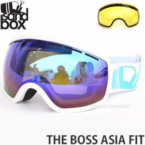 サンドボックス ザ ボス アジアンフィット SANDBOX THE BOSS ASIA FIT スノーボード ゴーグル 国内正規品 GLOSS WHITE レンズカラー:BROWN BLUE CHROME|s3store