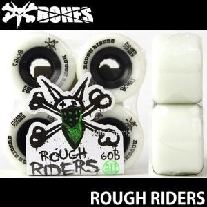 ボーンズ ラフ ライダーズ 【BONES ROUGH RIDERS】 60B 80A スケートボード ソフト ウィール SKATEBOARD SOFT WHEELS Aグレードウレタン ATF カラー:White|s3store