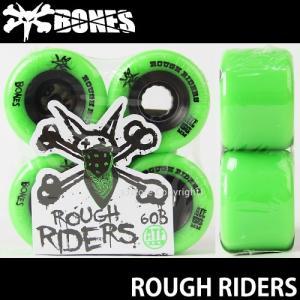 ボーンズ ラフ ライダーズ 【BONES ROUGH RIDERS】 60B 80A スケートボード ソフト ウィール SKATEBOARD SOFT WHEELS Aグレードウレタン ATF カラー:Green|s3store