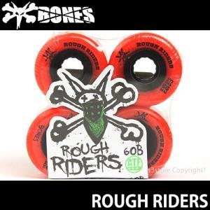 ボーンズ ラフ ライダーズ 【BONES ROUGH RIDERS】 スケートボード スケボー ソフト ウィール クルージング SKATEBOARD SOFT WHEEL Aグレード ATF カラー:Red|s3store