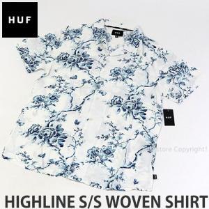 ハフ ウーブン シャツ HUF HIGHLINE S/S WOVEN SHIRT スケートボード スケボー トップス 半袖 服 ストリート コーデ SKATE カラー:WHITE|s3store