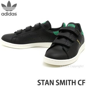 アディダス スタンスミス コンフォート adidas STAN SMITH CF スニーカー メンズ ベルクロ ストリート カラー:black/black/green|s3store