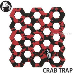 クラブグラブ クラブ トラップ CRAB GRAB CRAB TRAP スノーボード デッキ ストンプ パッド SNOWBOARD DECK STOMP PAD グリップ 滑り止め カラー:RED/BLACK|s3store