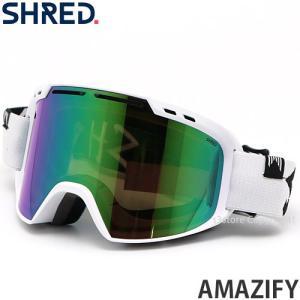 19model シュレッド SHRED AMAZIFY ゴーグル スノーボード スキー アジアン FIT フレーム:WHITEOUT レンズ:CBL GREEN/PLASMA REFLECT(15%)|s3store