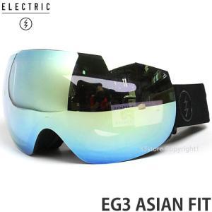 17 エレクトリック EG3 アジアンフィット 【ELECTRIC EG3 ASIAN FIT】 国内正規品 スノーボード ゴーグル メンズ Frame:MATTE BLACK Lens:GREY/GOLD CHROME|s3store
