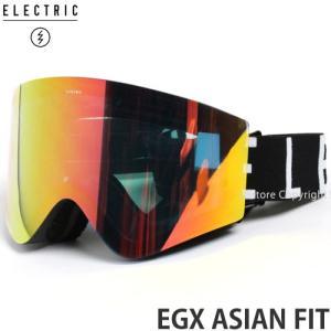 17 エレクトリック EGX アジアンフィット 【ELECTRIC EGX ASIAN FIT】 国内正規品 スノーボード ゴーグル メンズ Frame:M.BLK|WORDMARK Lens:GREY/RED CHROME|s3store