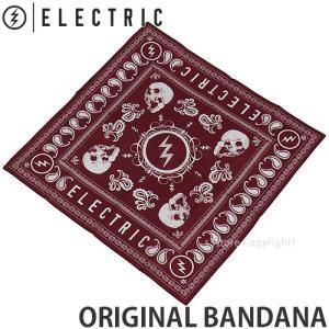 エレクトリック オリジナル バンダナ ELECTRIC スノーボード SNOWBOARD アクセサリー ハンカチ ACCESSORIES コーディネート カラー:RED サイズ:52cm x 53cm|s3store
