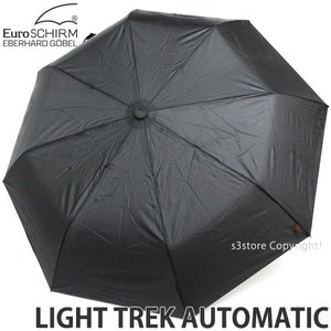 ユーロシルム ライト トレック オートマチック 傘 折り畳み EuroSCHIRM LIGHT TREK AUTOMATIC ワンタッチ 自動 コンパス カラー:Black|s3store