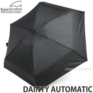 ユーロシルム デインティー オートマチック 【EuroSCHIRM DAINTY AUTOMATIC】 傘 かさ 折り畳み ワンタッチ 自動開閉式 カラー:Black|s3store