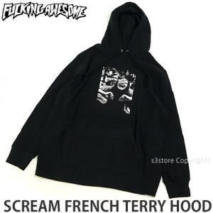 ファッキン オーサム フード FUCKING AWESOME SCREAM FRENCH TERRY HOOD スケートボード スケボー パーカー ストリート カラー:Black|s3store