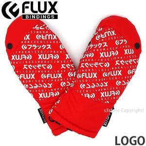 フラックス ロゴ FLUX LOGO 18-19 2019 スノーボード スキー パーク グローブ SNOWBOARD GLOVE 手袋 ミトン ゲレンデ コーデ カラー:Red|s3store