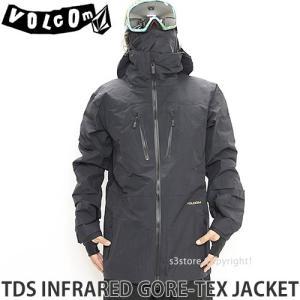 17 ボルコム TDS インフラレッド ゴアテックス ジャケット ウエア VOLCOM TDS INF GORE-TEX JACKET 16-17 スノーボード メンズ Recco ダウン カラー:BLK|s3store