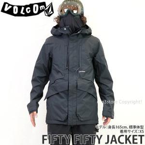 19model ボルコム フィフティー ジャケット VOLCOM FIFTY FIFTY JACKET 18-19 スノーボード スノボ スノーウェア メンズ カラー:Black s3store