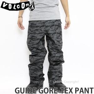 17 ボルコム ガイド ゴアテックス パンツ ウエア VOLCOM GUIDE GORE-TEX PANT 16-17 スノーボード スノボ メンズ WEAR MENS Recco カラー:CAM s3store