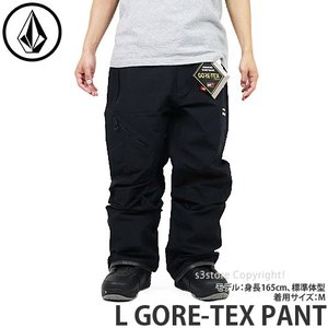 20model ボルコム エル ゴアテックス パンツ VOLCOM L GORE-TEX PANT 19-20 スノーボード スノボ スノーウェア パンツ メンズ カラー:Black|s3store