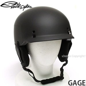 スミス ゲージ 【SMITH GAGE 】 スノーボード 自転車 BMX ヘルメット プロテクター メンズ SNOWBOARD HELMET MENS カラー:MATTE BLACK|s3store