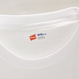 ヘインズ 青ラベル クルーネック ティーシャツ HANES BLUE LABEL CREW NECK T-SHIRT アパレル Tシャツ コットンポリエステル 半袖 丸首 メンズ カラー:White|s3store|03