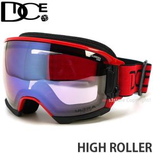 19model ダイス ハイ ローラー DICE HIGH ROLLER スノボ ゴーグル 日本製 フレームカラー:R レンズカラー:Ice Mirror/ULTRA Light Purple|s3store