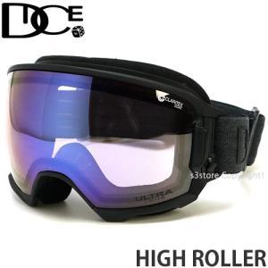 19model ダイス ハイ ローラー DICE HIGH ROLLER スノボ ゴーグル 日本製 フレームカラー:MBK レンズカラー:Ice Mirror/ULTRA Light Purple s3store