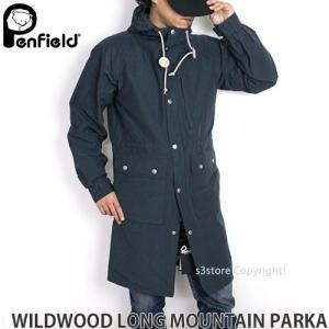 ペンフィールド ワイルドウッド ロング マウンテンパーカー PENFIELD WILDWOOD LONG MOUNTAIN PARKA メンズ アウター トップス コート ロクヨン カラー:BLUE|s3store
