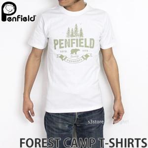 ペンフィールド フォレスト キャンプ Tシャツ PENFIELD FOREST CAMP T-SHIRTS メンズ インナー 半袖 トップス 英国デザイン ロゴ アウトドア カラー:WHITE|s3store
