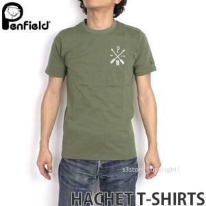 ペンフィールド ハケット Tシャツ PENFIELD HACHET T-SHIRTS メンズ インナー 半袖 トップス 英国デザイン ロゴ アウトドア MENS カラー:FOREST|s3store