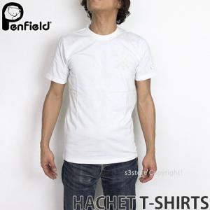 ペンフィールド ハケット Tシャツ PENFIELD HACHET T-SHIRTS メンズ インナー 半袖 トップス 英国デザイン ロゴ アウトドア MENS カラー:WHITE|s3store