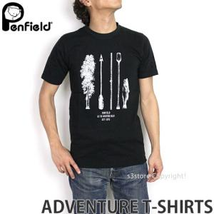 ペンフィールド アドベンチャー Tシャツ PENFIELD ADVENTURE T-SHIRTS メンズ インナー 半袖 トップス 英国デザイン ロゴ アウトドア MENS カラー:BLACK|s3store