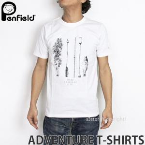 ペンフィールド アドベンチャー Tシャツ PENFIELD ADVENTURE T-SHIRTS メンズ インナー 半袖 トップス 英国デザイン ロゴ アウトドア MENS カラー:WHITE|s3store