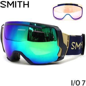 18model スミス アイ/オー セブン ゴーグル SMITH I/O 7 スノボ フレームカラー:NAVY CAMO SPLIT レンズカラー:CP SUN GREEN MIRROR|s3store