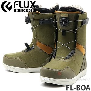 19model フラックス エフエル ボア FLUX FL-BOA スノーボード ブーツ クイック 簡単 着脱 メンズ SNOWBOARD BOOTS MENS カラー:OLIVE/BROWN|s3store