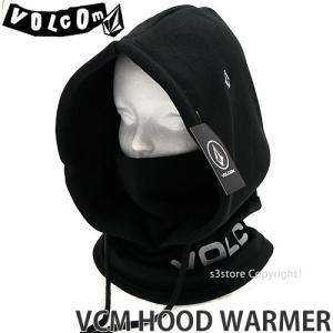 ボルコム フード ウォーマー VOLCOM VCM HOOD WARMER スノーボード スノボ スキー 防寒 バイク タウンユース カラー:Black サイズ:O/S|s3store