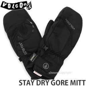 18model ボルコム ステイ ドライ ゴア ミット グローブ VOLCOM STAY DRY GORE MITT スノーボード Gore-Tex ゴアテックス Color:BLK|s3store