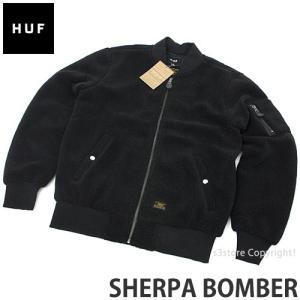 ハフ シェルパ ボンバー HUF SHERPA BOMBER スケートボード SKATE フリース ジャケット ブルゾン コーディネート ストリート カラー:BLACK s3store